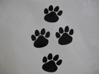 Dog Paw Footprint Decal Sticker x 10 Black