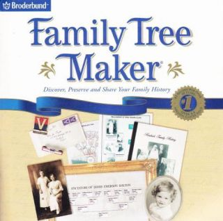 Family Tree Maker 10 PC CD Genealogy Historical Research Relatives History Tools