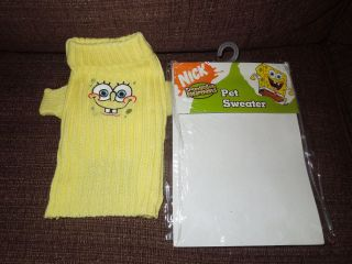 Nickelodeon Spongebob Squarepants Pet Sweater Dog Dress Up Clothing