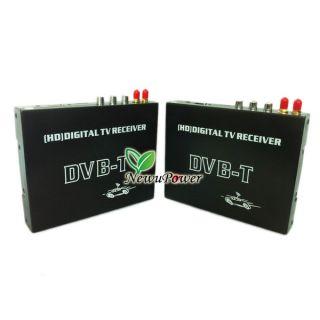 Car DVB T MPEG 4 SD HD Digital TV Tuner Receiver Box Dual Antenna for Europe