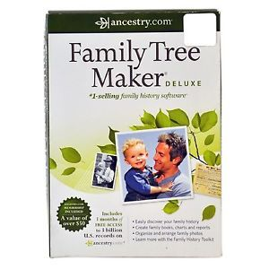 Ancestry com Family Tree Maker Deluxe Ancestry Retail Box Software New