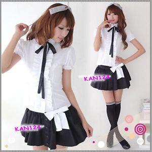 Japanese Japan School Uniform Dress Cosplay Costume Anime Girl Lady Sexy Lolita