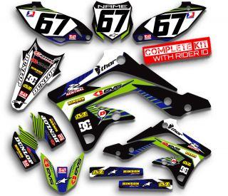 KDX50 Graphics Kit KDX 50 Kawasaki Decals Moto Stickers All Years Pit Bike Deco