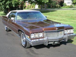 1973 Cadillac Coupe DeVille 83K Original Miles Over 9K Receipts Garaged Clean
