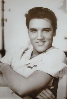 "Elvis Presley ""Black White Arms Folded"" Poster from Asia Rock N Roll Pop"