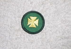 Girl Scout Junior First Aid Badge Yellow Cross