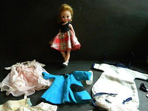 "Vintage 1950's Betsy McCall 8"" Doll with Lot of Clothing Accessories"