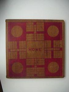 Antique Folk Art Primitive Handmade Checker Parcheesi Game Board