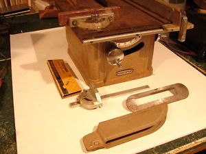 Vintage Craftsman Model 103 Table Saw 103 24243 With Fences And