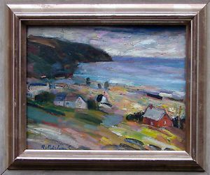 Rene Richard Oil Painting on Board Art Signed by Canadian Canada Listed Artist