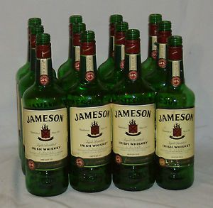 12 Jameson Irish Whiskey 1L Green Glass Bottles Bar Lamp Art Glasses Green Glass