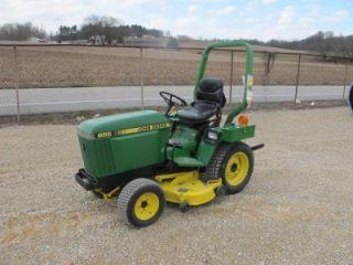 John Deere 655 4x4 Tractor with Belly Mower 500 Original Hours