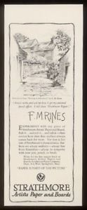 1930 F M Rines Art Strathmore Paper Print Ad