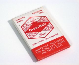 """Vintage Grain Belt Beer First Aid Kit """"First Aid for Thirst"""" ©1959"""