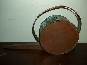 Mission Art and Crafts Art Deco Round Disc Copper Plant Watering Can RARE Shape