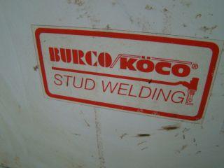 Burco Koco Stud Welder 208 230 460V 3PH Type 602 E