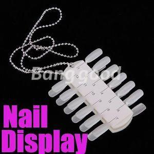 Portable Polish 24 Tips Display Salon DIY Nail Art Design Practice Palette Tool