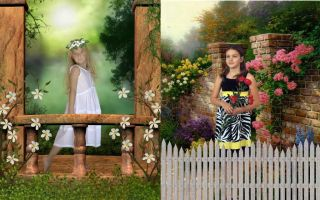 Digital Backgrounds Backdrops Beautiful Scenic Gates Pillars