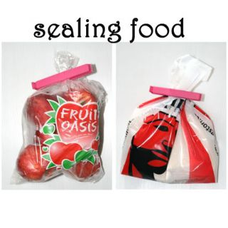 New Plastic Food Storage Container Seal Bag Clip Green