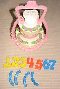 Fisher Price Fun with Food Wedding Birthday Cake Set Play Food Lot Kitchen