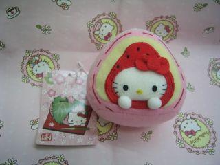 Sanrio Hello Kitty Japanese Food Plush Doll Key Chain Trinket A