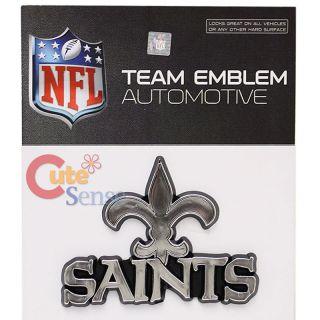 NFL New Orleans Saints Team Logo Auto Car Emblem Auto Accessories Chrome Finish