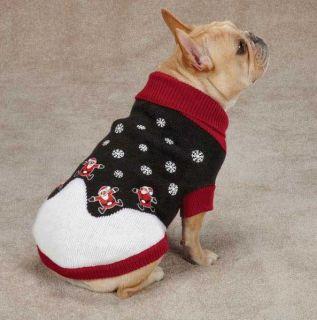 East Side Collection Santa Sweater Pet Dog Knit Top Shirt XXS L Christmas Xmas