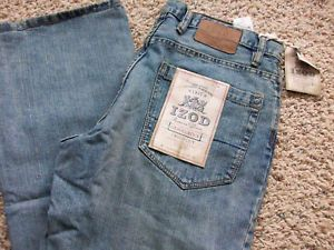 New IZOD Gravel Rock Bootcut Jeans Mens 36x34