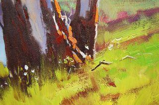 Gercken River Gum Eucalyptus Trees Original Oil Painting Australian Landscape