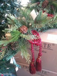 Frontgate Estate Mantel Christmas Door Corner Swag Garland Greenery Set 2 45733