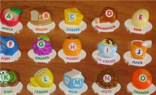Vtech Fridge ABC Food Fun Magnetic Letter Alphabet Set