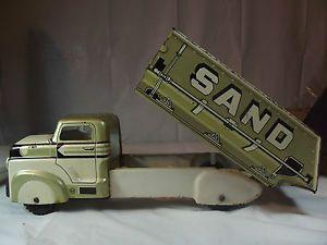 Marx Mar Tin Toy Dump Truck Sand Gravel Vintage USA