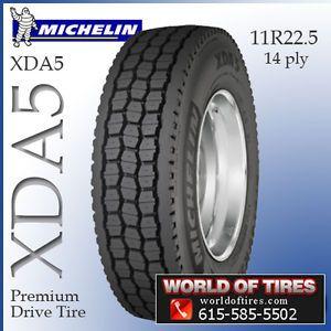 Michelin XDA5 11R22.5 semi truck tires 22.5 tires 11r22.5 11r 22.5 tires