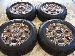 """4 2013 Ford F250 F350 20"""" Factory Chrome Alloy Wheels Rims Michelin Tires"""