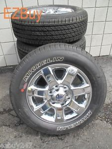 """18"""" Ford F150 New Factory Chrome Clad Wheels Michelin Tires Will Fit 2004 2013"""