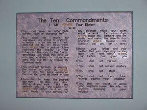 Door or Gate Ten Commandment Gold Name Mezuzah Messianic Christian Art Plaque