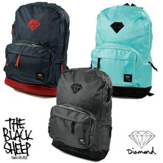 Diamond Supply Co Suede Croc School Life College Skate Work Padded Backpack Bag