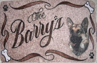 German Shepherd Dog Door Mat Personalized Pets Pet Lover Gift