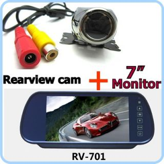 "DIY 170° Car Rear View Reverse Backup Camera Cam w 7"" LCD Color Monitor Screen"