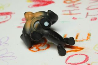 C6 Happy Littlest Pet Shop LPS 325 Black Brown Dachshund with Blue Eyes