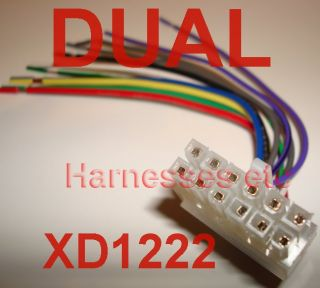 180754836_dual 12 pin wire harness plug xd1222 xd1215 xd6150 new panasonic 16 pin wire harness for older model dp series car stereo dual xd1222 wiring harness at eliteediting.co