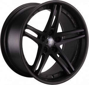 "19"" Rohana RC5 Matte Black Wheels Rims Fits Mercedes CLK W208 W209 1996 2009"