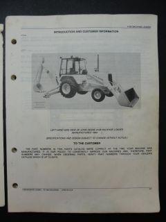 John Deere 210C Loader Backhoe Parts Catalog Manual