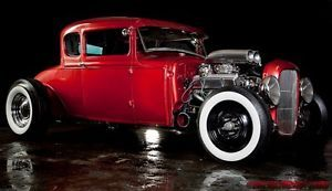 1930 Fire Thorn Red Model A Hot Rod Coupe Rat Rod