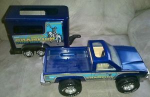 Nylint Pressed Steel Truck Toy Heavy Duty Champion Quarter Horse and Trailer
