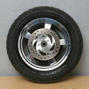 Harley Davidson Rear Wheel Sprocket Brake Rotor Chrome 5 Spoke Michelin Tire