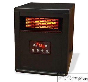 2 Lifesmart LS RB3 1000x Infrared Quartz 1500W Portable Space Heaters w Remotes