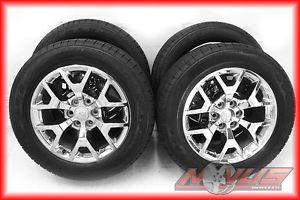 "2014 20"" GMC Yukon Sierra Denali Chevy Tahoe Silverado Wheels Goodyear Tires"