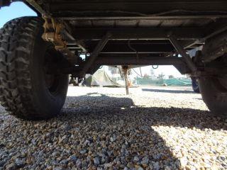 EX US Military 3 4 Ton M101A3 Utility Cargo Trailer 2 Wheel Camo Green HMMWV Rim