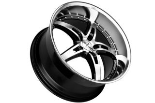 """20"""" Ford Mustang MRR GT5 Black Staggered Rims Wheels"""